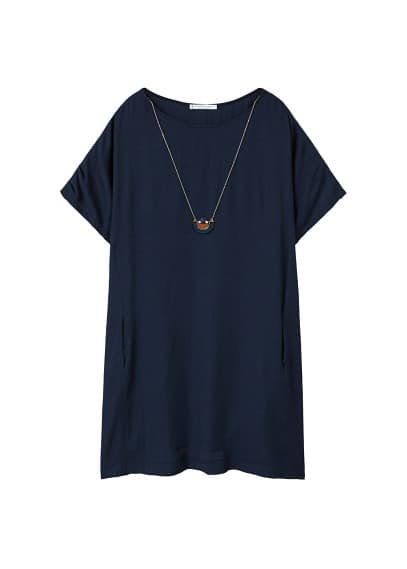 Violeta BY MANGO Detachable necklace dress