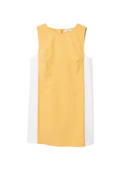 MANGO Panel shift dress