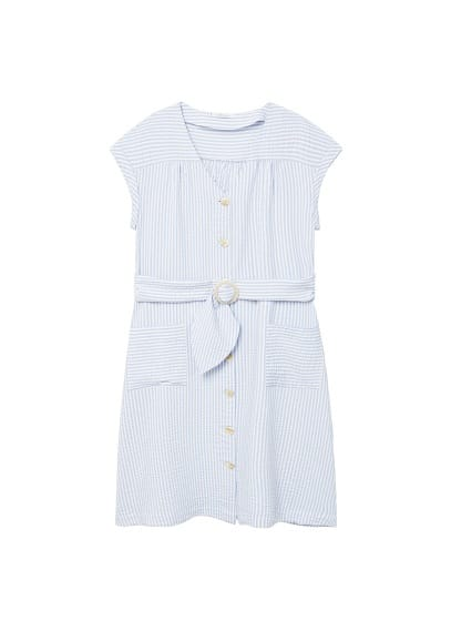 Violeta BY MANGO Belt striped dress