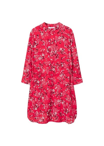 Violeta BY MANGO Floral shirt dress