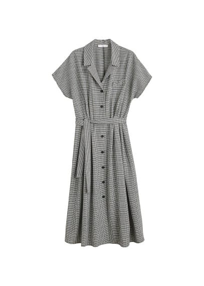 MANGO Gingham check dress