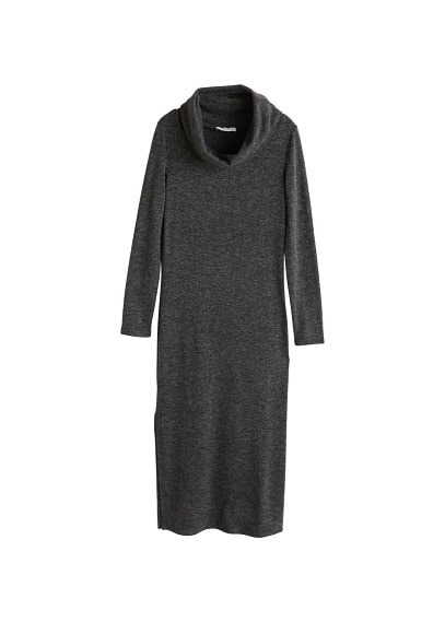 MANGO Funnel neck dress