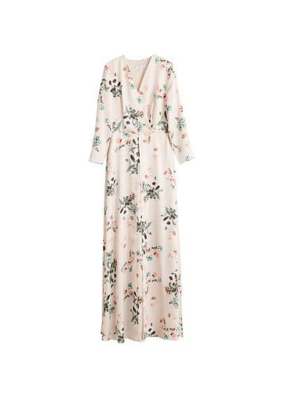 MANGO Satin floral dress