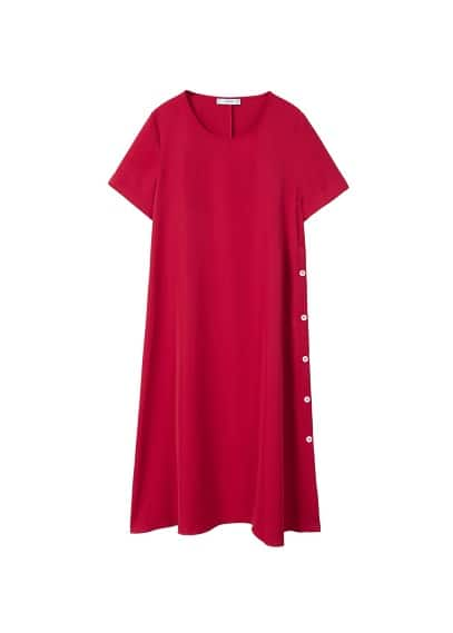 MANGO Side buttons dress