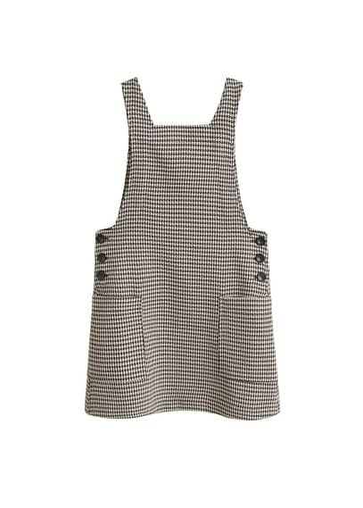 MANGO Houndstooth pinafore dress
