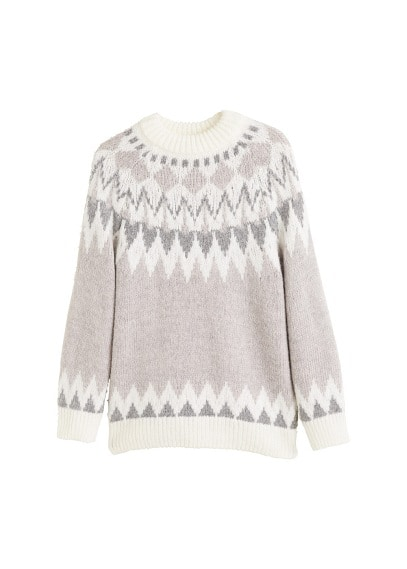 Pull-over brodé maille
