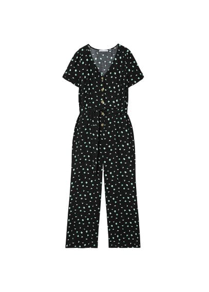 Violeta BY MANGO Floral long jumpsuit