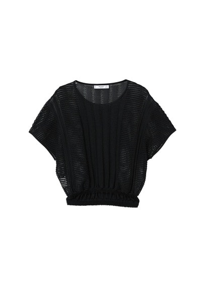 MANGO Openwork knit top
