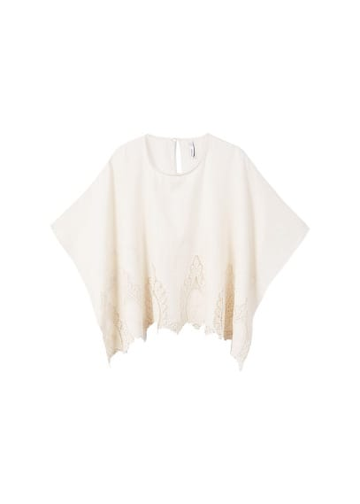 Blouse coton broderies