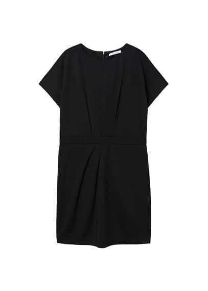 Violeta BY MANGO Pleated waist dress