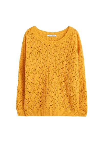 Pull-over maille ajourée