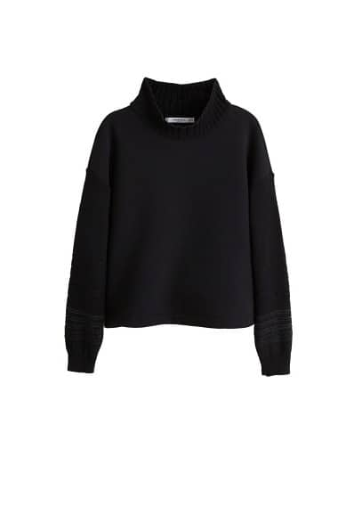 Pull-over combiné maille