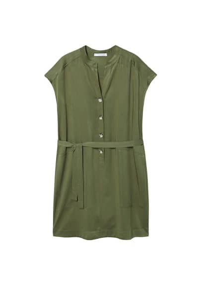 Violeta BY MANGO Buttoned dress