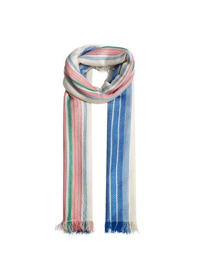 Foulard rayures multicolores