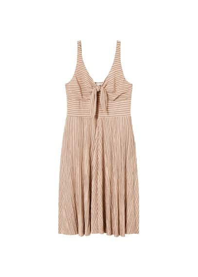 Violeta BY MANGO Knot striped dress