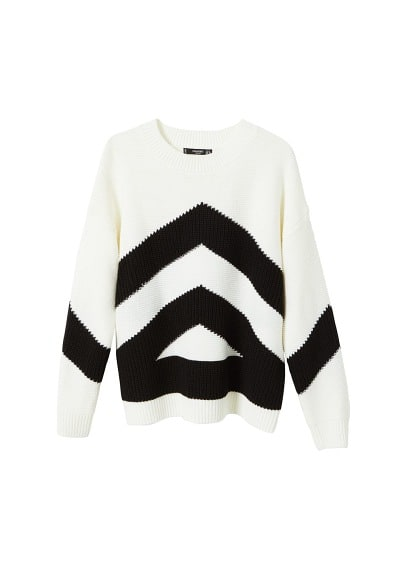 Pull-over maille contrastant