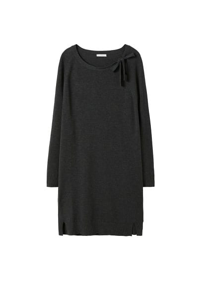 Violeta BY MANGO Bow knitted dress