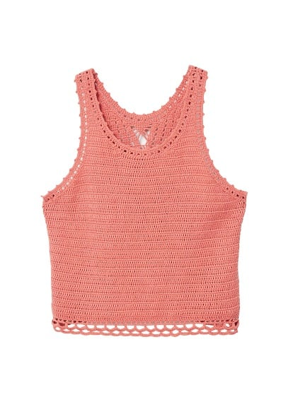 MANGO Crochet panel top