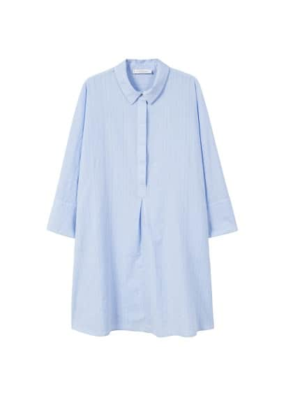 Violeta BY MANGO Shirt textured dress