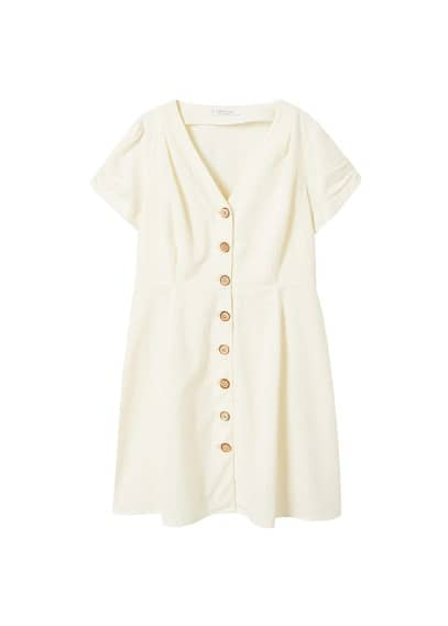 Violeta BY MANGO Buttones cotton dress