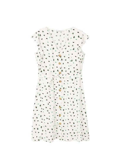 Violeta BY MANGO Buttoned flowers dress