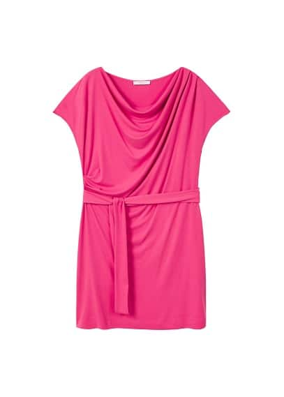 Violeta BY MANGO Draped neckline dress