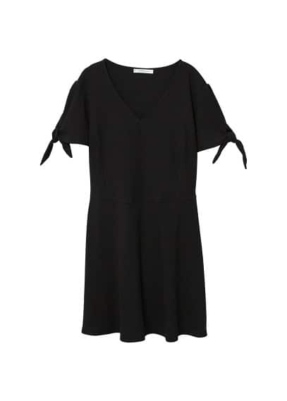 Violeta BY MANGO Bow cotton dress