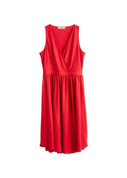 MANGO Fluted hem dress