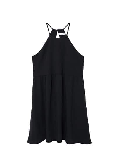 MANGO Halter neck soft dress