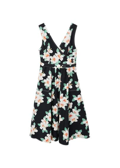 MANGO Flowers cotton dress