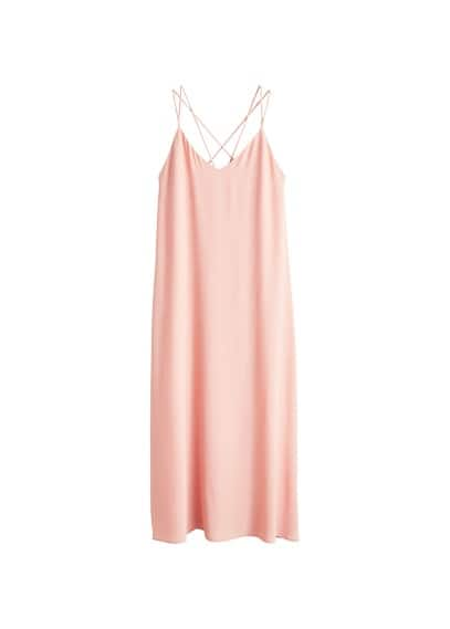 MANGO Long crepe dress