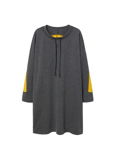 Violeta BY MANGO Combined sweatshirt dress