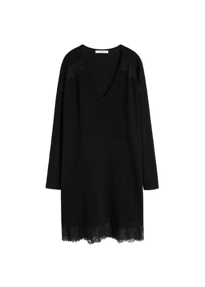 Violeta BY MANGO Lace panel dress
