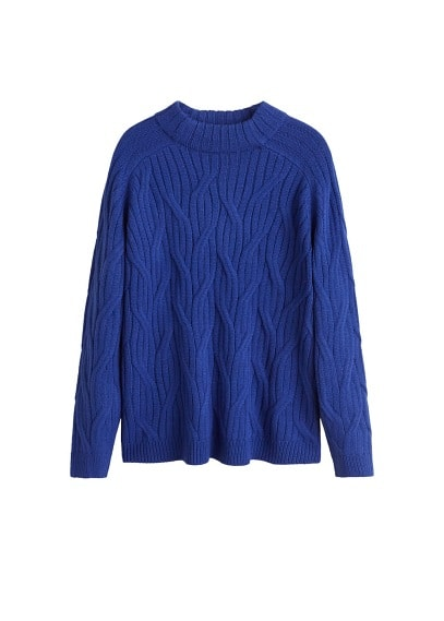 Pull-over maille tressée