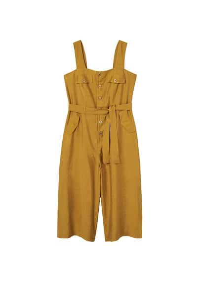 Violeta BY MANGO Long soft jumpsuit
