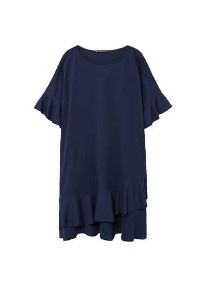 Violeta BY MANGO Frill cotton dress