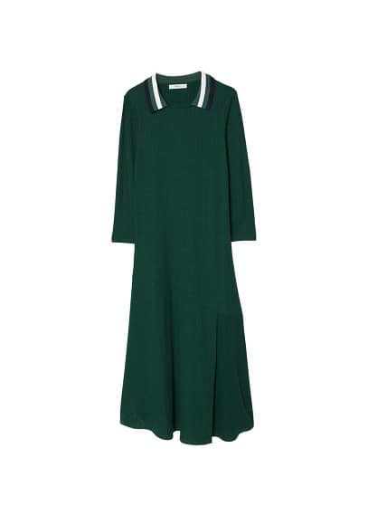 MANGO Ribbed jersey dress