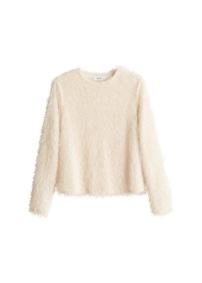 Pull-over en maille effet fourrure
