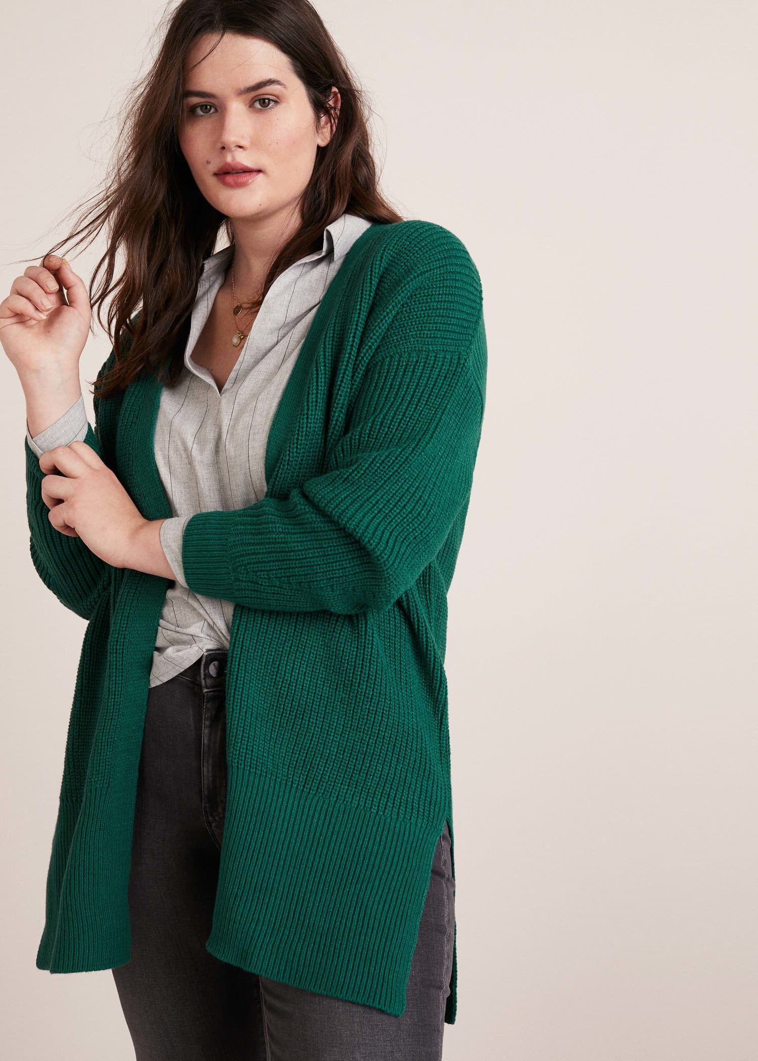 Chunky Knit Cardigan Cardigans And Sweaters Plus Sizes Violeta