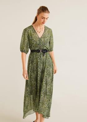 4d172e8ca0d Φόρεμα στάμπες λουλούδια - Λεπτομέρεια του προϊόντος 1