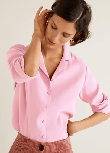 465c9d4c3cf Textured flowy blouse - Details of the article 2