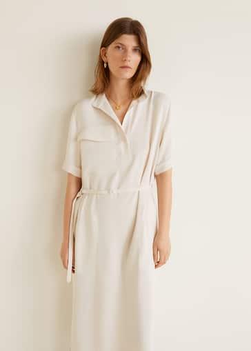 dbc3e4650e8dc Midi shirt dress - Women | Mango USA