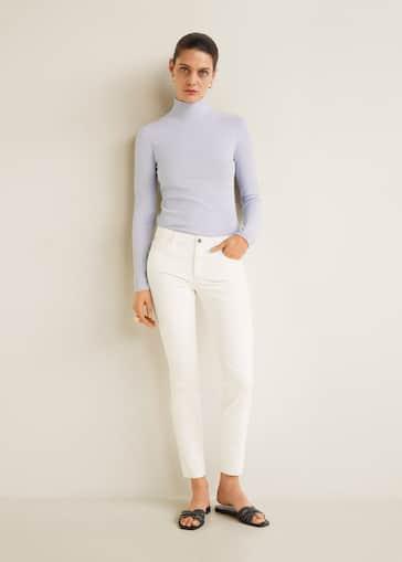 8c89818eb4 Jeans skinny Belle encerados - Plano medio