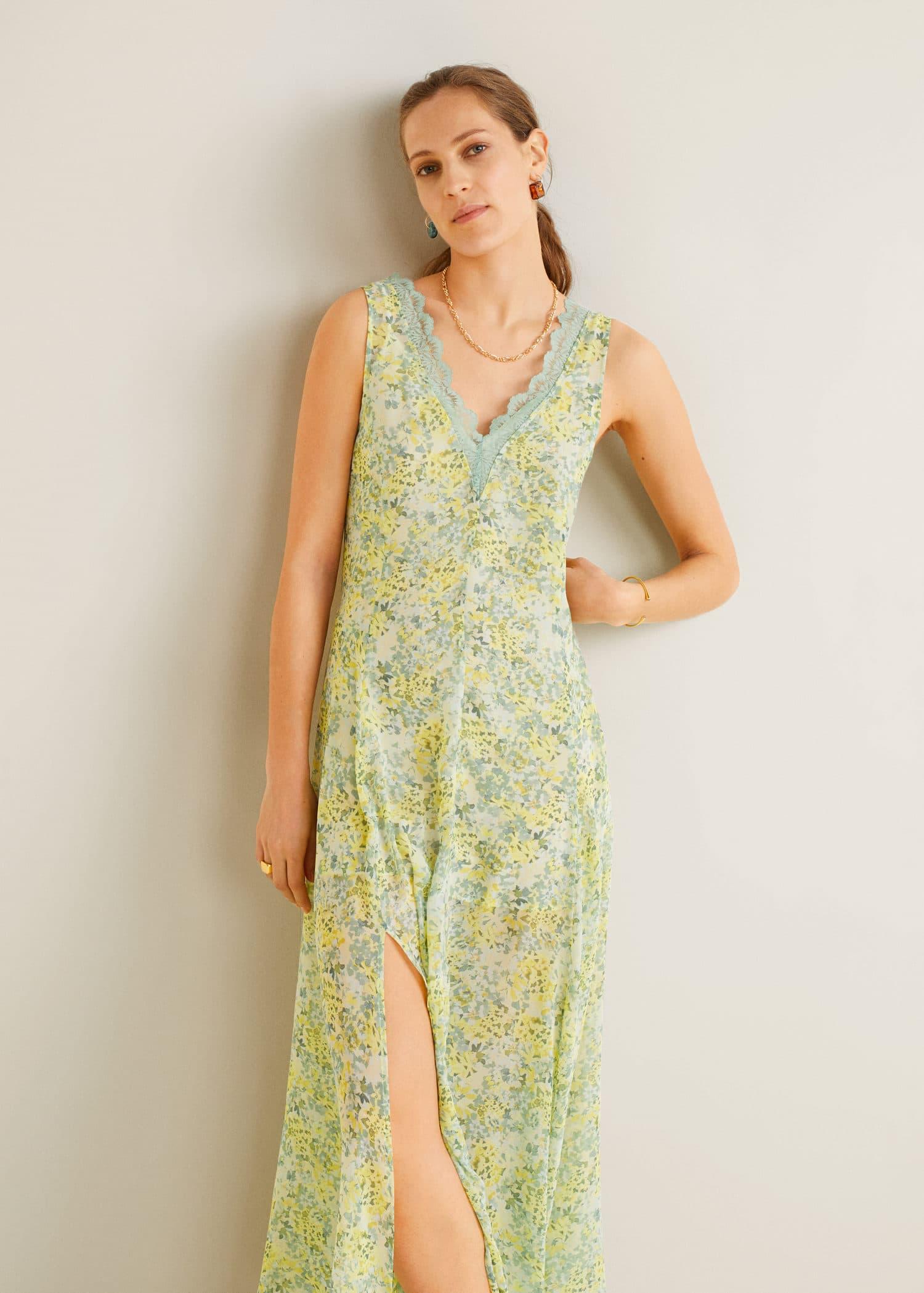 Vestido de fiesta mango 2019