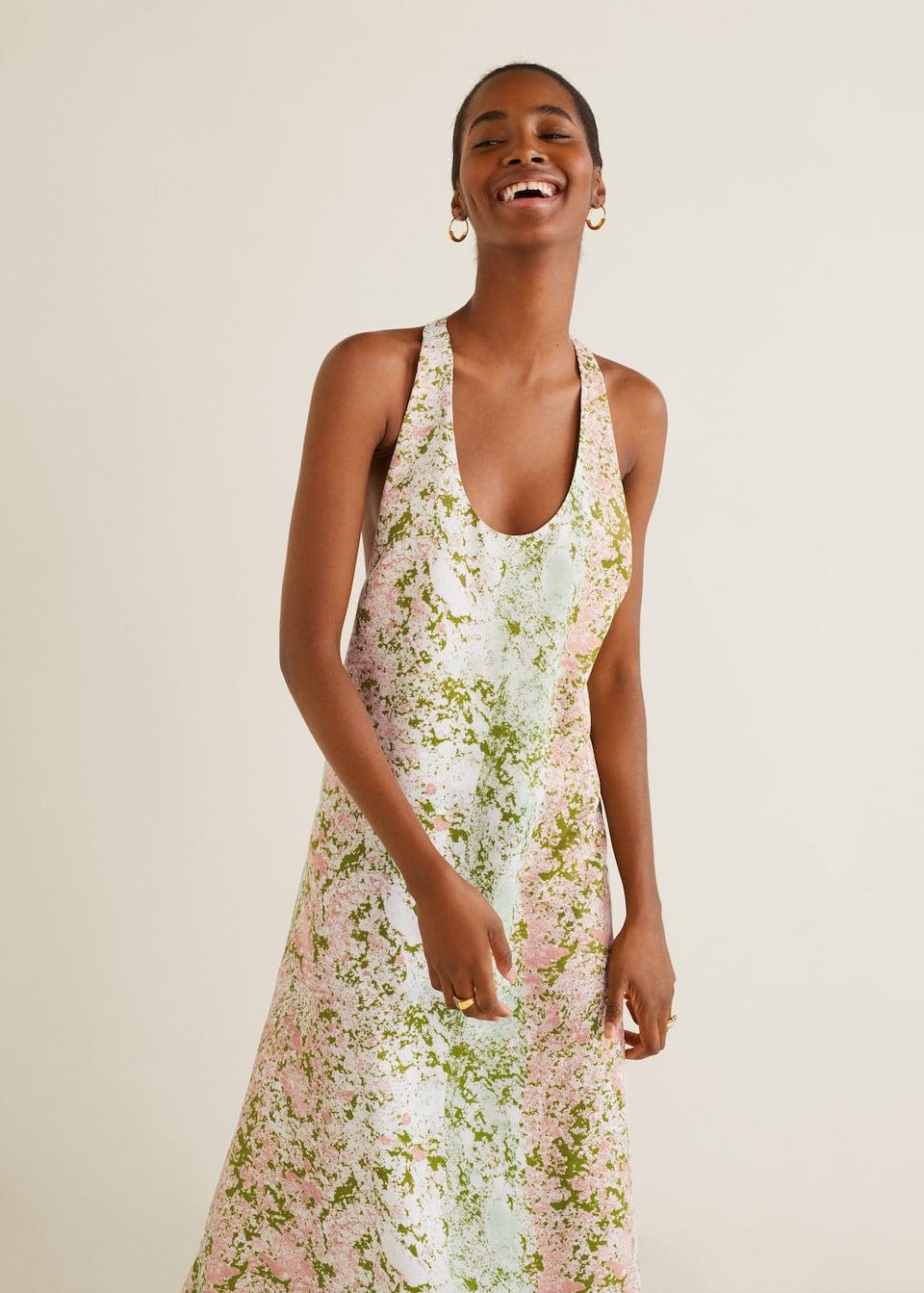 tienda oficial 50-70% de descuento diseño elegante Vestido soft flores - Mujer | Mango España