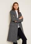 Текстурированное пальто с воротником-средний вид