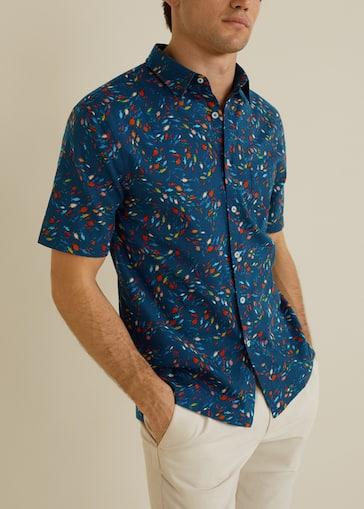 8408a8bfca Camisa regular-fit algodón estampada - Plano medio
