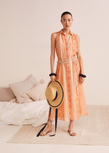 80b9d408e1 Printed long dress - Details of the article 6