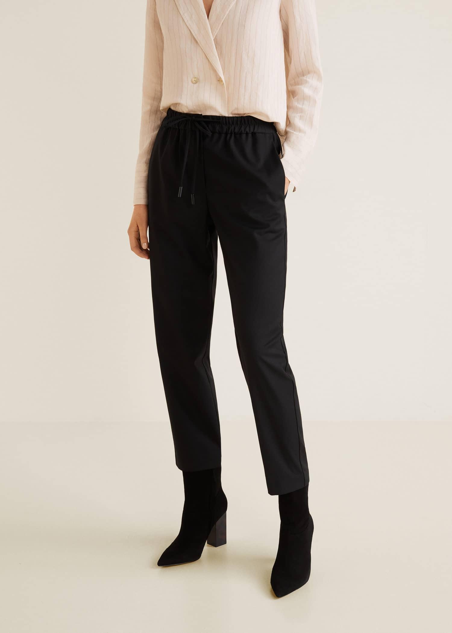 Pantalon taille élastique Femme | Mango Luxembourg