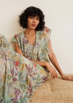 Платье из шифона с цветами c9081a725f85a